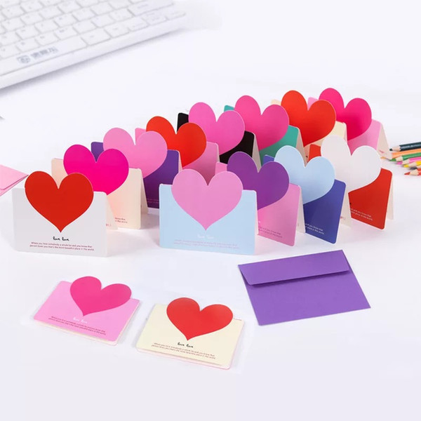 Mini Diy Heart Card Simple Creative Greeting Card Wedding Cards Birthday Wishes Christmas With Envelope Holiday Card Holiday Cards From Pont 21 6
