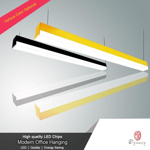 Premium Pendant Lamp Aluminum Hanging Lights 270 Degree Luminous LED Customize Long Bar Light Office Club Reception Decoration Free Shipping