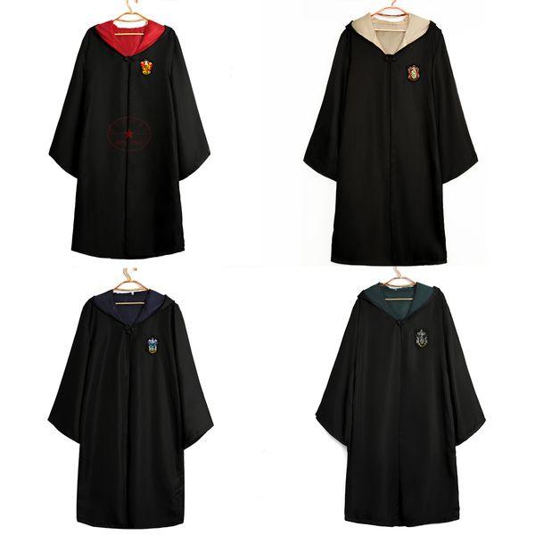 Гарри поттер косплей хэллоуин расходные материалы гриффиндор мыс хаффлпафф волшебный халат воронкло слизерин костюм для детей и взрослых