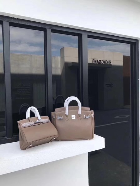 2018 Hot 35CM 30CM 25CM Big Brand Designer Totes Shoulder Bags Handbags With Lock women Lady Real Genuine leather Bags Fashion Handbag