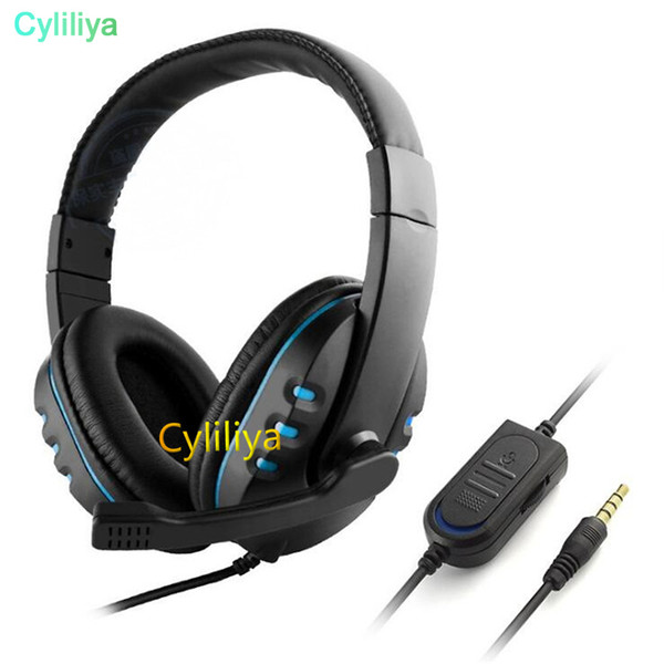 Wired 3.5mm gaming Headset Headphone Earphone Music Microphone For PS4 XBOX-ONE Game PC Chat fone de ouvido Headphones