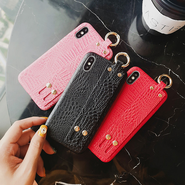 Luxury Fashion IPhone cases designer cell phone cases for iPhone 8 7P 6s X alligator print phone cover