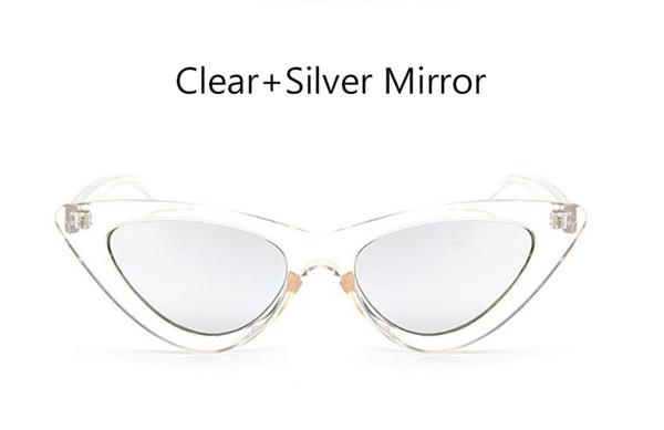 прозрачное серебряное зеркало