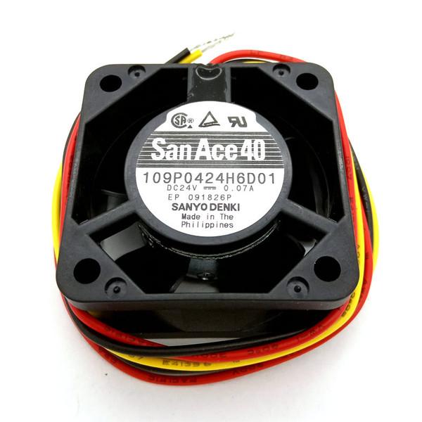Yeni Orijinal SANYO 109 P0424H6D01 40 * 40 * 20 MM DC24V FANUC sistemi için 0.07A Alarm Sinyali soğutma fanı