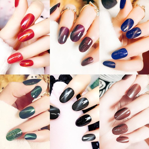 Manicure products fake nail products nail patch popular ins cat eye nail patch light therapy lens L cat eye