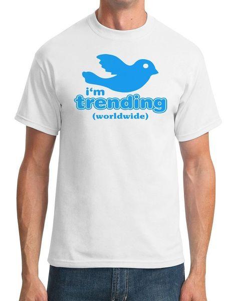 Im Trending Worldwide - Funny - мужская футболка Funny 100% Cotton T Shirt классическая футболка высокого качества