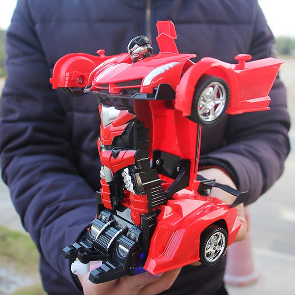 XYCQ RC Car Transformation Robots Sports Vehicle Model Robots Toys Cool Deformation Car Kids Toys Gifts For Boys
