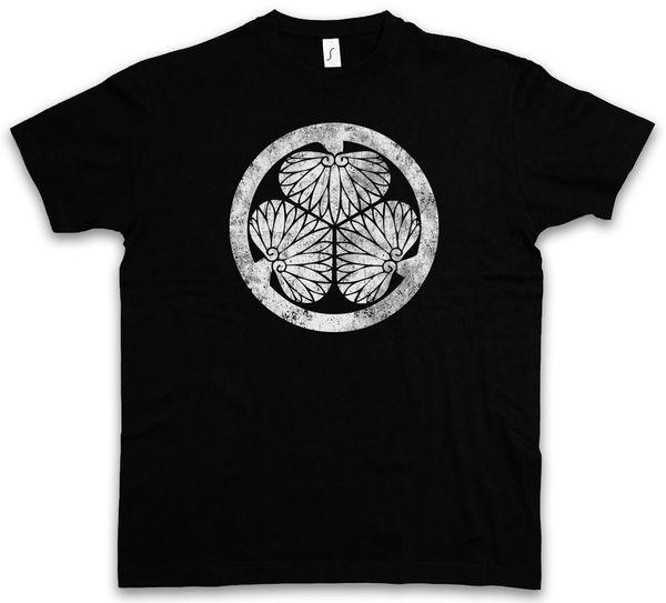 T-SHIRT TOKUGAWA CLAN MON - Japão Nobunaga Oda Edo Samurai Shogun T-Shirt Ninja verão Venda Quente Nova Tee Impressão Homens T-Shirt Top 2017 Novo