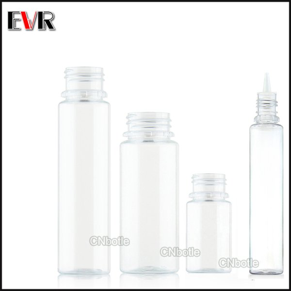 China fabricação de plástico pet 10 ml 15 ml 30 ml 50 ml 60 ml 100 ml 120 ml ejuice embalagem vape e-líquido garrafa com frete grátis