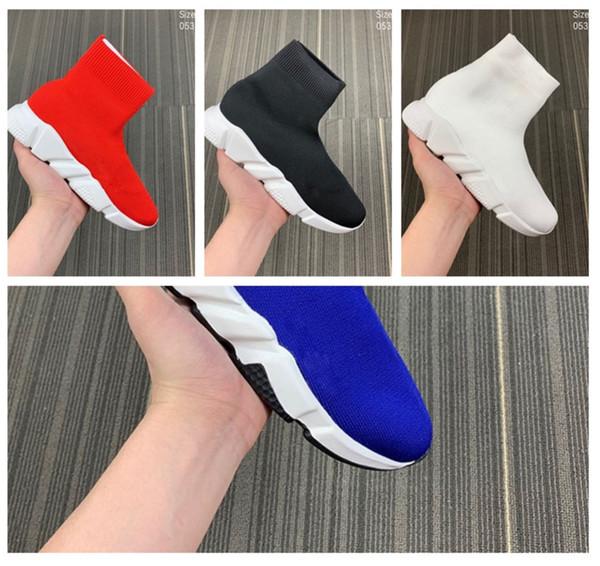 Sapatos de meia de Luxo Sapato Casual Trainer Velocidade de Alta Qualidade Sneakers Speed Trainer Meia Corredores de Corrida sapatos pretos homens e mulheres de Luxo Sapato M122