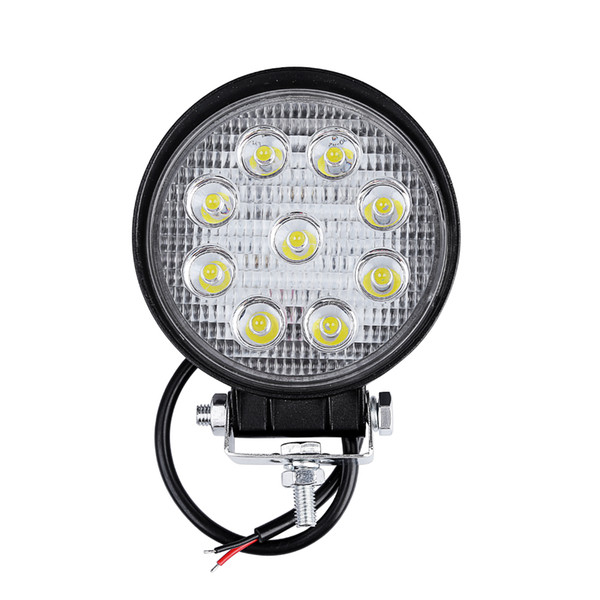 10pcs Round 27W LED WORK LIGHT Car Driving lights 24V 12V Led Tractor Work Lights Off Road 4X4 Car ATV Boat OFF ROAD Spot Beam Fog Lamp