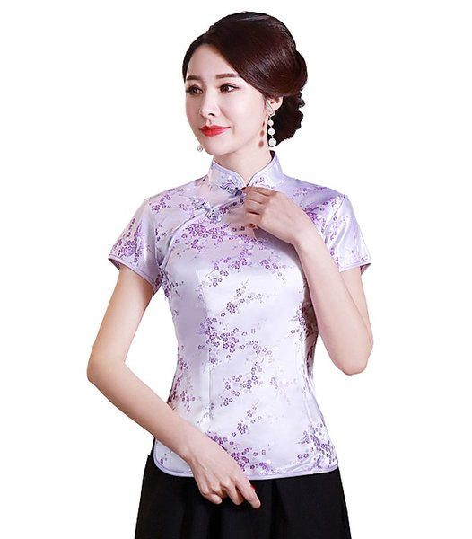Purple with Floral Embroidery
