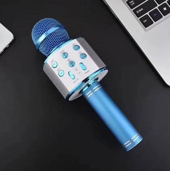 Новый WS858 микрофон Беспроводной Bluetooth караоке WS-858 микрофон USB KTV плеер мобильный телефон плеер микрофон динамик запись музыки