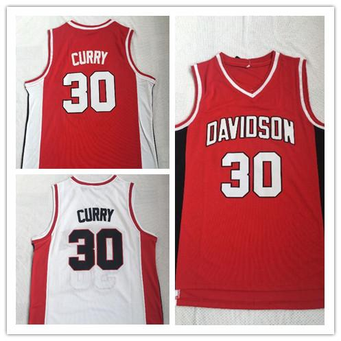 Davidson Wildcat Stephen 30 Curry Jersey College Basketball jerseys Wears University Shirt Stitched jersey Mens Top Quality