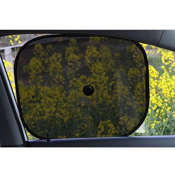 2PCS Car Windows Protection Sun Shade UV rideau de fenêtre de voiture Pare-soleil latéraux Mesh pare-soleil d'été Protection Window Film Universal