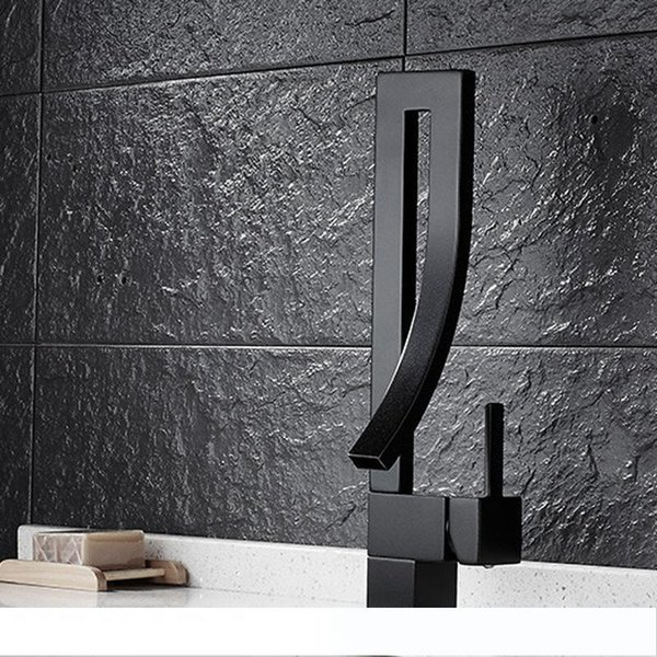 2019 Free Coupons ! Black Square Kitchen Sink Tap With Cold And Hot Water  Supply Antique Brass Kitchen Faucet HS301 From Lianzhan_01, $99.98 | ...
