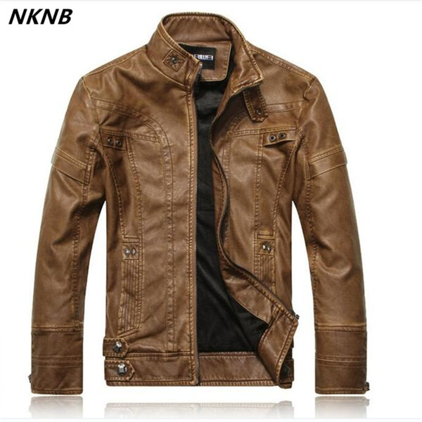 Men faux Leather Suede Jacket Fashion Autumn Motorcycle PU Leather Male Winter Bomber Jackets Outerwear Faux Coat