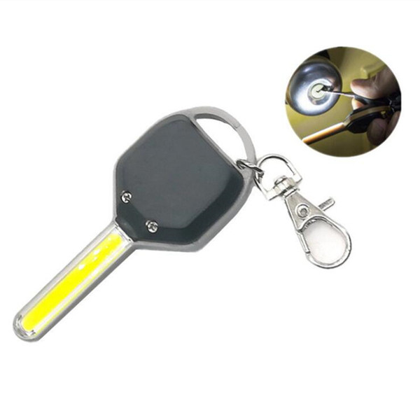 Portable mini cob key ring flashlight creative novely keychain torch Outdoor camping backpack light night fishing torch lamps