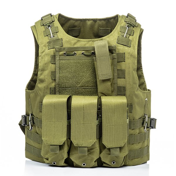 Airsoft Tactical Vest Molle Combat Assault Plate Carrier Tactical Vest 7 Colors CS Outdoor Clothing Hunting Vest CS tactical equipment