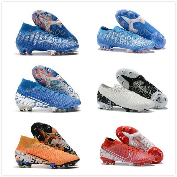 2019 360 de dentelle frontale perruques de cheveux humains crampons chaussures de football chaussures bleu jaune taquets football blanc noir hommes crampons de football de la mode 3