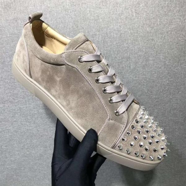Real Photo, avec boîte, sac à poussière de marque en daim avec des pointes de baskets pour hommes, femmes, appartements de loisirs de mode, chaussures basses