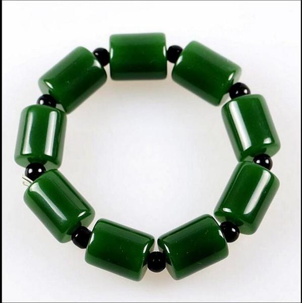 Bracelet de perles de jade vert chinois CHARM