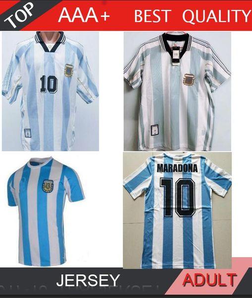 1978 1986 1998 2006 Retro maillot de football Argentine MARADONA MESSI RIQUELME VINTAGE chemise de football