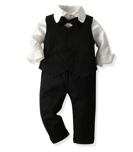 Herbst und Winter 2019 Neue Kinderkleidung Dreiteiliger College-Anzug für Herren mit Rüstungen und Hosen Meistverkaufte neue Modelle GRÖSSE 70
