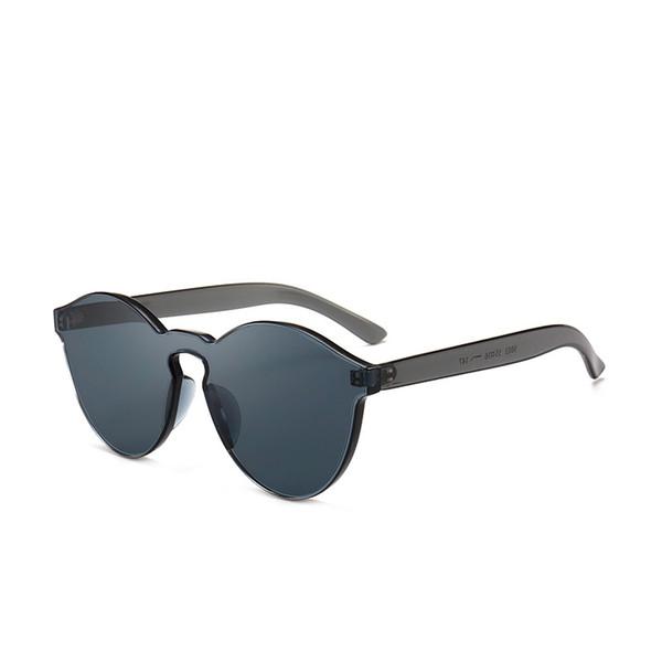 Frauen rahmenlose verbunden gelee Sonnenbrille Männliche transparente bunte arten im freien reisebrille augenschutz sport sonnenbrille QQA409