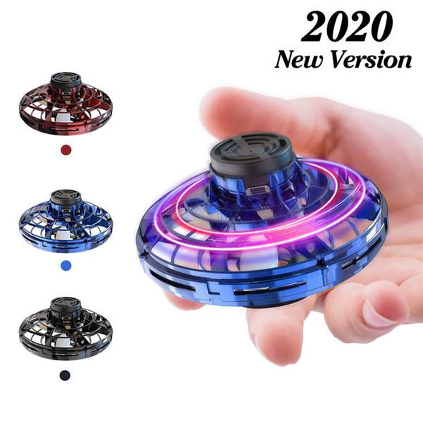 Authentique FlyNova UFO Fidget Spinner Drone Toy Enfants Portable 360 ° Rotating Shinning lumières LED Noël presse volant jouet cadeau Véritable