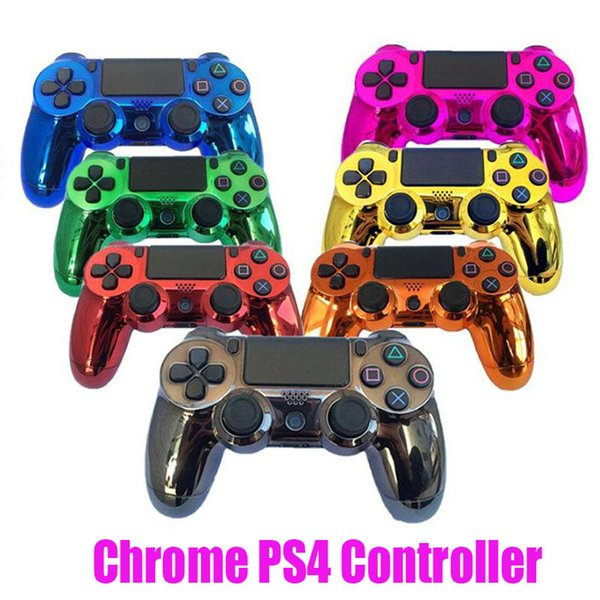 Chrome p 4 wirele controller for p 4 vibration joy tick gamepad game controller for ony play tation hock 4 controller with retail box