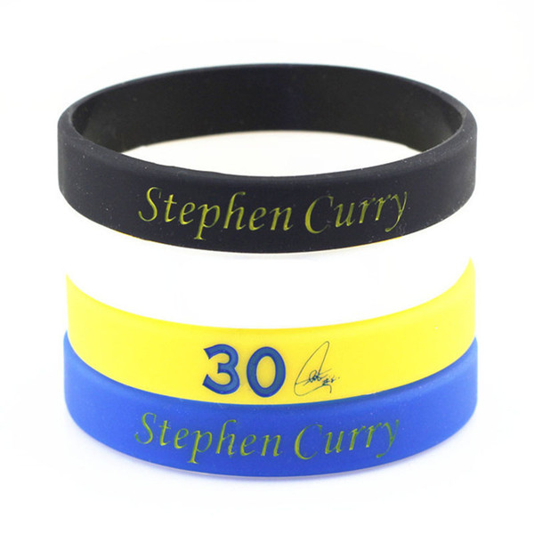 Fashion Stephen Curry Sign Silicone Bracelet For Women Sport Basketball Casual Rubber Wrist Band Friendship Bracelets Jewelry