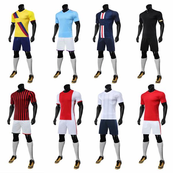 À manches courtes AC, Barcelone, Ajax maillot de football 19-20, costume de football, costume de football, équipe d'entraînement, équipe masculine, uniforme en uniforme -