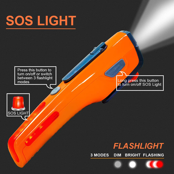 New Emergency Tools SOS Light Car Glass Torch Portable Multifunction Emergency Safety Hammer With Led Flashlight For Rescue And Escape 100pc