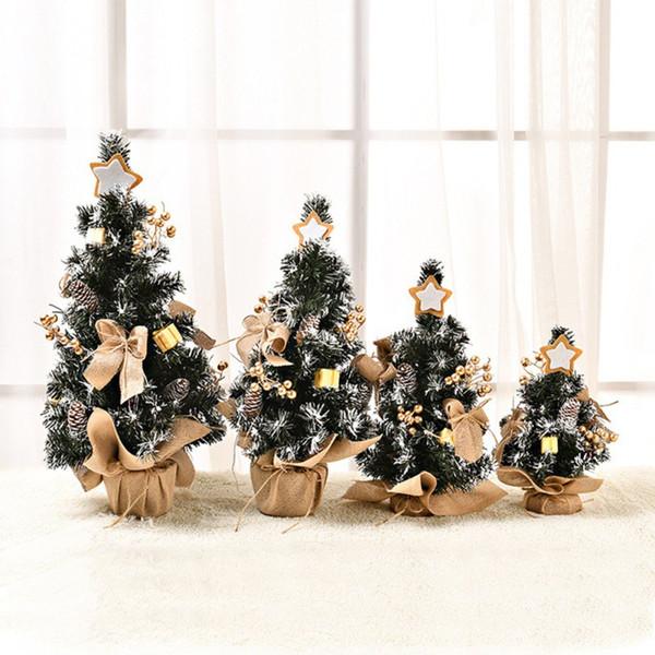 Arbre de Noël Type de chiffrement unique Mini Arbre de Noël de fête pour Fête Accueil Décorations enfants Cadeau artificiel