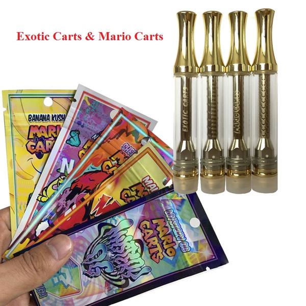 Ologramma Mario Carrelli esotici AC1003 Oro 1.0ml Cartuccia Vape con Logo Not Leak Cearamic Bobina 510 Cartucce per olio denso