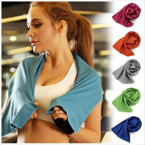 Ice Towels Cold Beach Towel Sport Face Cooling Towel Microfiber Fabric Quick-Dry Ice Towels For Beach Workout Fitness Excercise Towels TL739