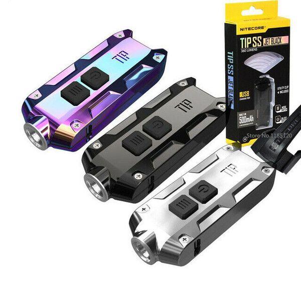 NITECORE TIP SS Stainless Steel Metallic Keychain Light Key Button Light