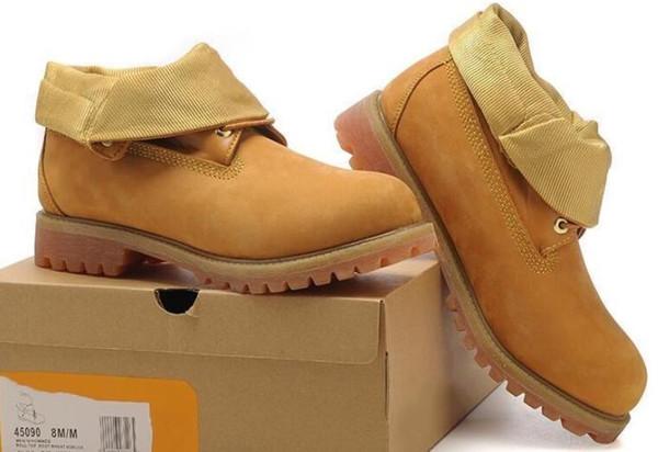Скидка 45090 Мужская древесина Roll Top Top Пшеница Золотая обувь для походов Рабочая обувь Fashional Большое дерево Продажа онлайн