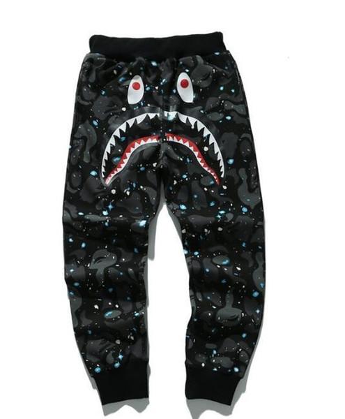 Pantalons simple AAPE marque de sport Pantalons pour la course Survêtement Hommes Joggers imprimé Shark Pantalon unisexe Pantalon Casual