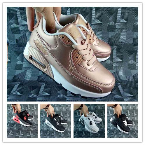 2019 Kids Sneakers Presto 90 II shoe Children Sports Orthopedic Youth Kids trainers Infant Girls Boys running shoes 9 Colors Size 28-35