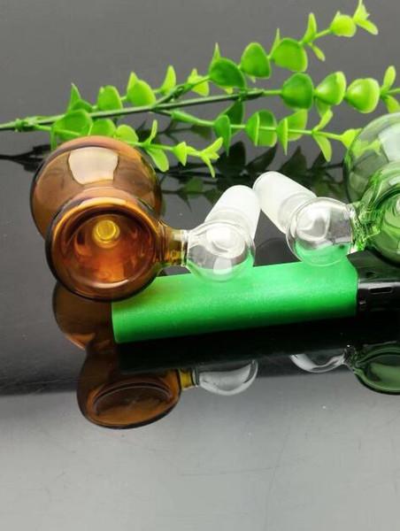 2019 новый цвет стеклянная бутылка глава стекло бонги масляная горелка стекло водопровод нефтяные вышки курение 18 мм мужской бесплатно shoppin