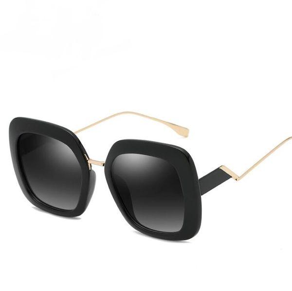 New fashion sunglasses Europe and the United States cross-border personality sunglasses women trend big box sunglasses best selling