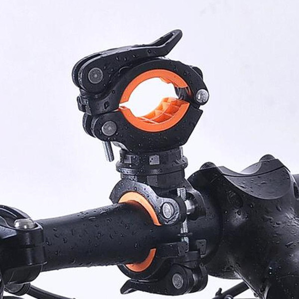 MTB Bicycle Grip Bike Mount Clamp Clip Holder With Flashlight LED Torch Lamp Cycle Light Handle Bar Handlebar Bracket Stand #121970