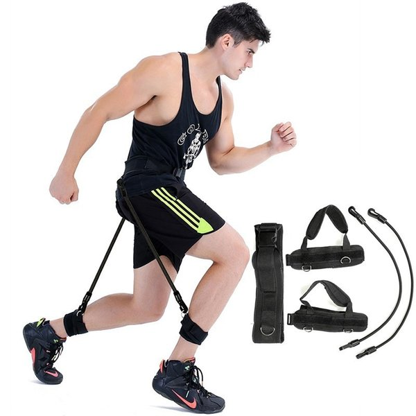 XC Fitness Bounce Trainer Rope Basketball Jumping Crossfit Fitness Equipment Pull Rope Rubber Expander Resistance Band For Leg