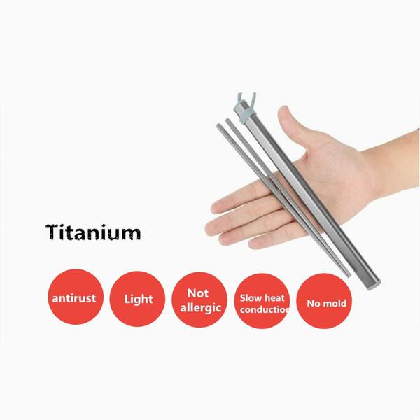 Açık Taşınabilir Kullanımlık Saklama Kutusu Ile Titanyum Çubuklarını Ev Kamp mutfak aksesuarları Için Ultralight Sadece 40g