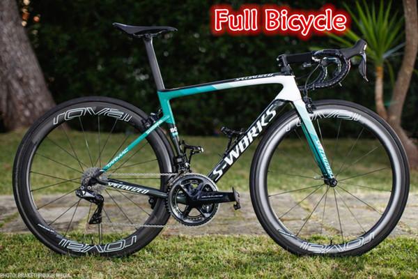 Bester Verkauf 15 Farben SL6 Copmplete Fahrrad voll Fahrrad mit SL6 Carbonstraßenrahmen R8010 Groupset 50mm Carbonräder A271 Naben geben Verschiffen frei