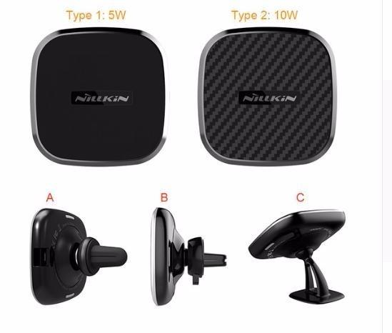 Qi Car Magnetic Wireless Charger For Samsung Galaxy S10 S7 S8 S9 Plus Holder Air Vent Mount For Iphone Xs Max X For Mi 9