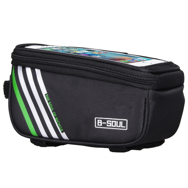 B-SOUL Waterproof Touch Screen Bicycle Bags Cycling Bike Front Frame Bag Tube Pouch Mobile Phone Storage Bag #330583
