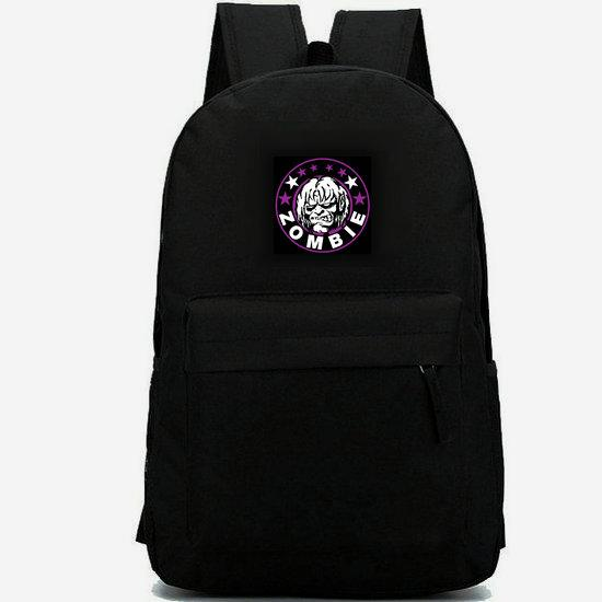 Rob Zombie backpack Heavy metal rock daypack Hot schoolbag Music star rucksack Casual school bag Outdoor day pack